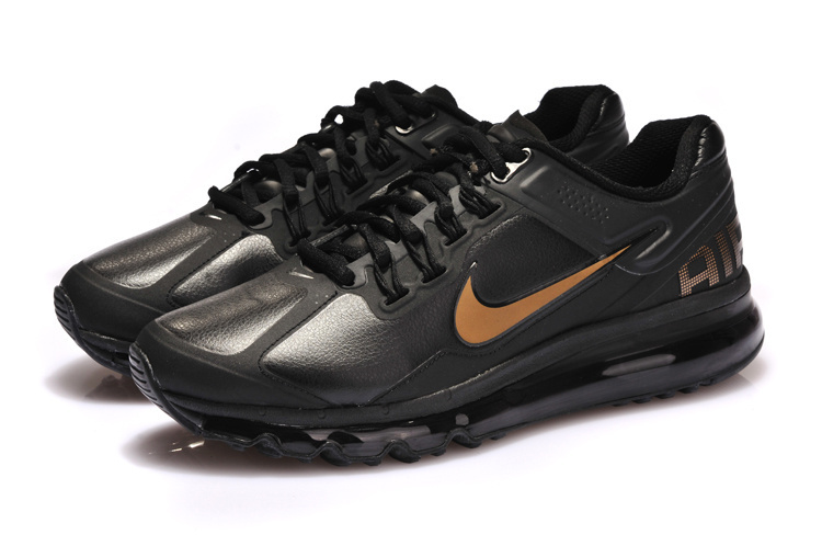 Nike Air Max 2013 Black Copper Running Shoes
