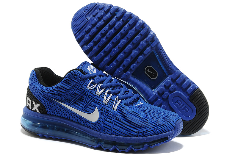 Nike Air Max 2013 Blue Black Running Shoes