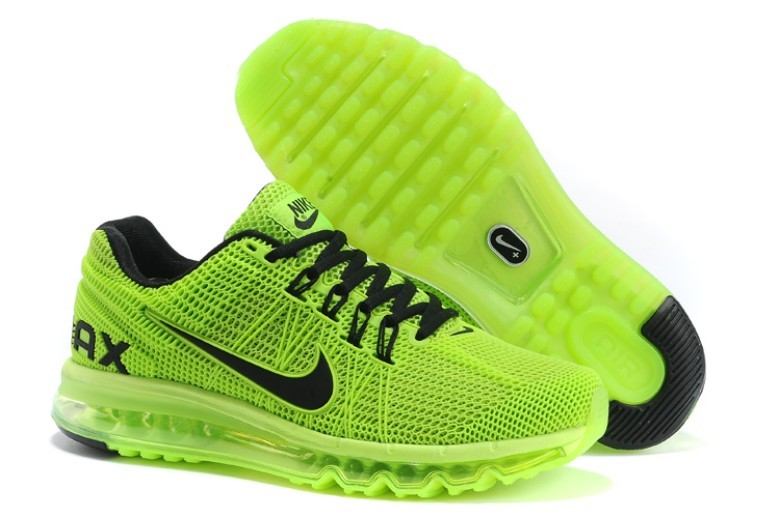 Nike Air Max 2013 Fluorscent Green Black Women Shoes