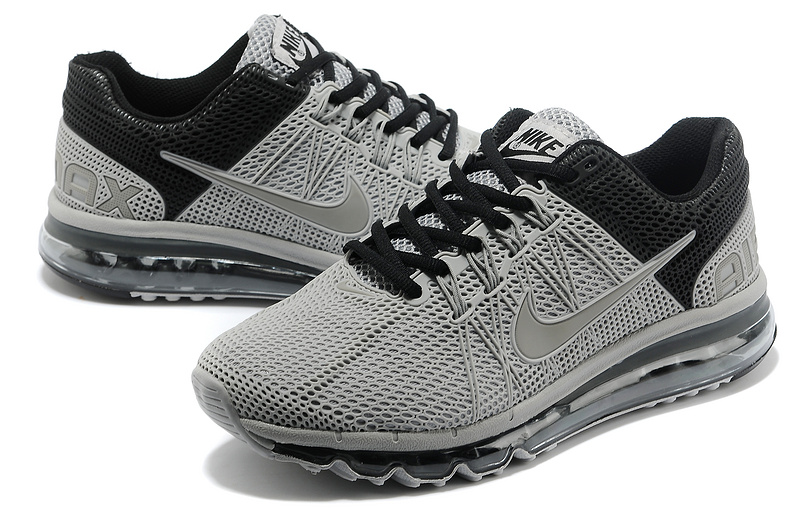 Nike Air Max 2013 Grey Black Running Shoes