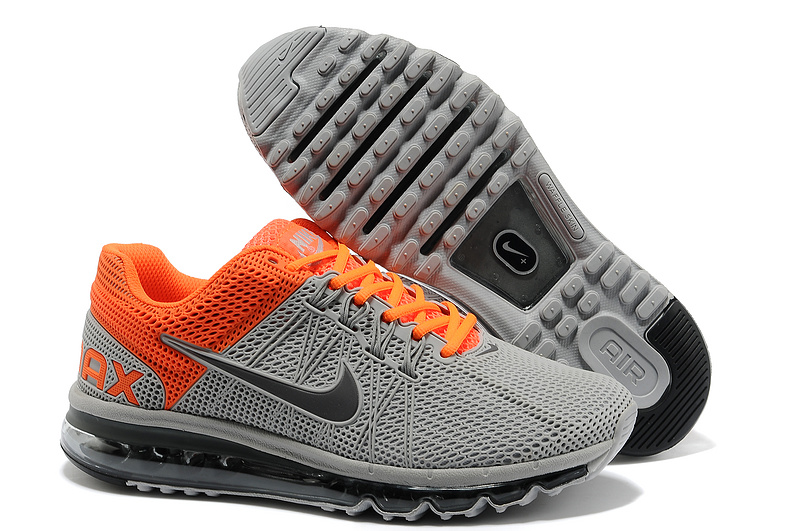 Nike Air Max 2013 Grey Orange Black Running Shoes