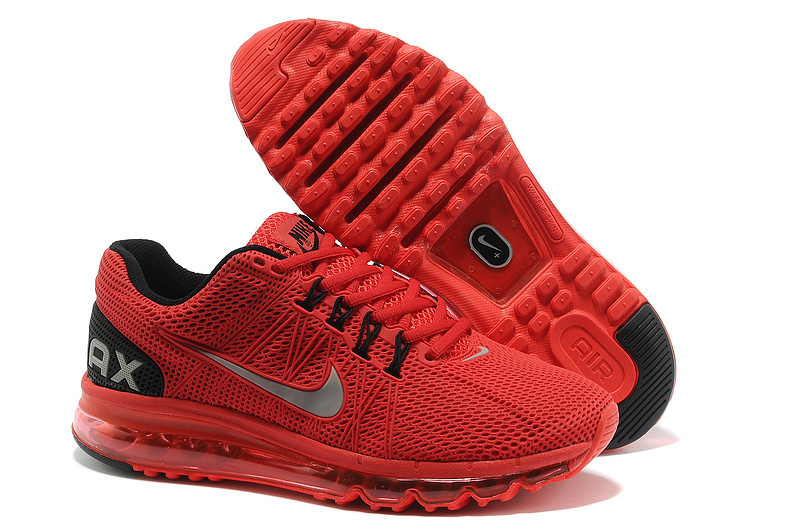 Nike Air Max 2013 Red Black Running Shoes