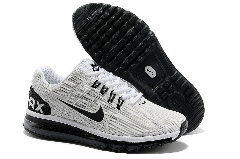 Nike Air Max 2013 White Black Running Shoes