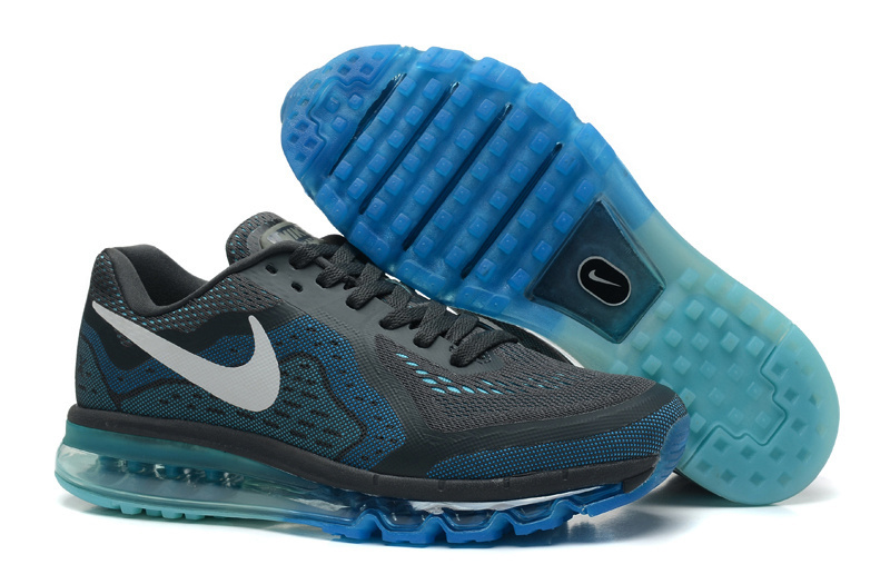 Nike Air Max 2014 Cushion Black Blue Shoes