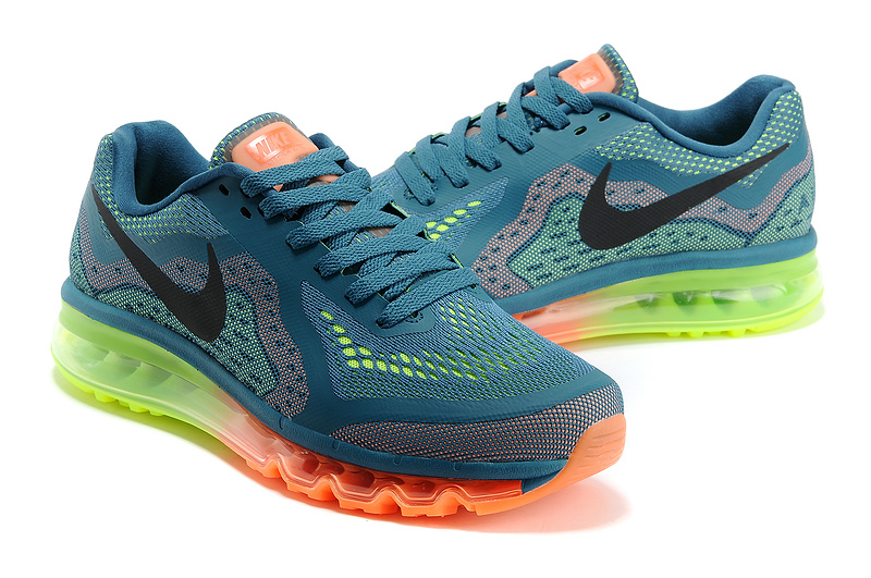 Nike Air Max 2014 Cushion Blue Orange Green Black Shoes