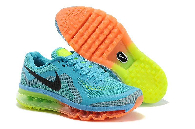 Nike Air Max 2014 Cushion Blue Orange Green Shoes