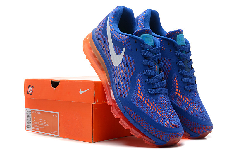 Nike Air Max 2014 Cushion Blue Orange Shoes