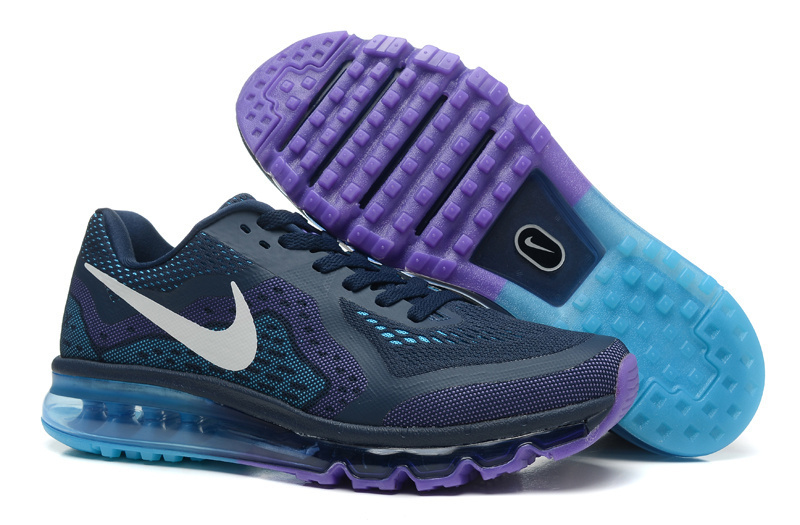 Nike Air Max 2014 Cushion Dark Blue Purple Shoes