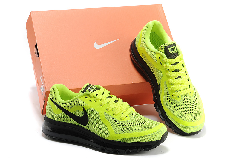 Nike Air Max 2014 Cushion Fluorscent Green Black Shoes