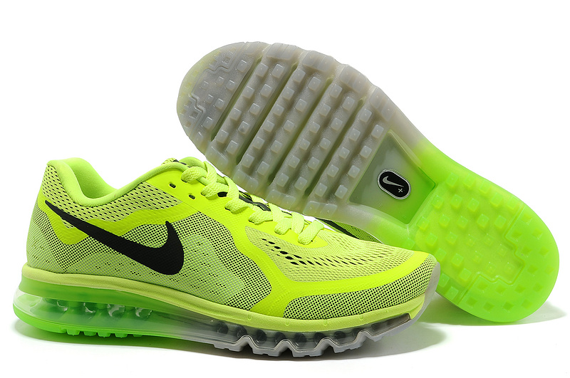 Nike Air Max 2014 Cushion Fluorscent Green Shoes
