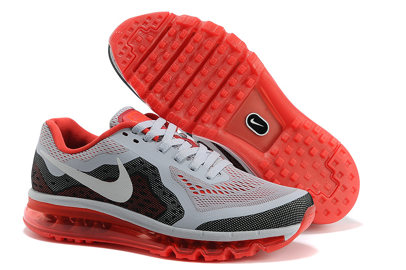 Nike Air Max 2014 Cushion Grey Black Red Shoes
