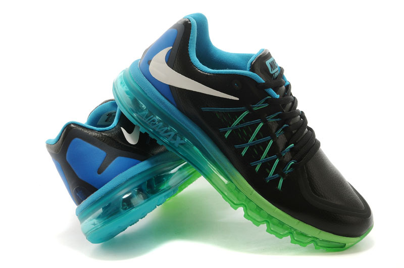 Men Nike Air Max 2015 Black Blue Green