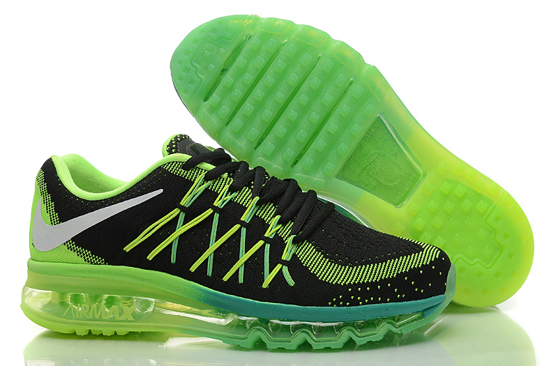 Nike Air Max 2015 Knit Black Green Shoes