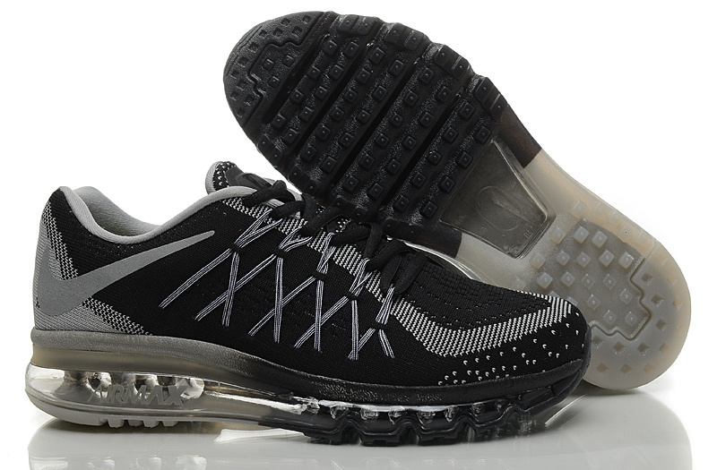 Nike Air Max 2015 Knit Black Grey Shoes