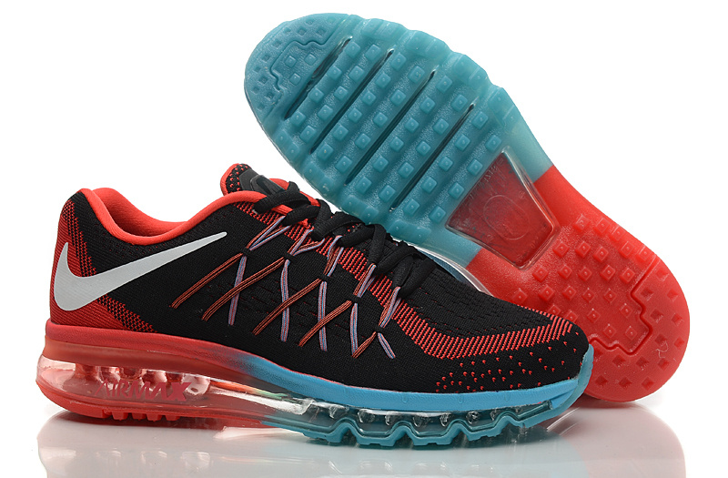 Nike Air Max 2015 Knit Black Red Blue Shoes