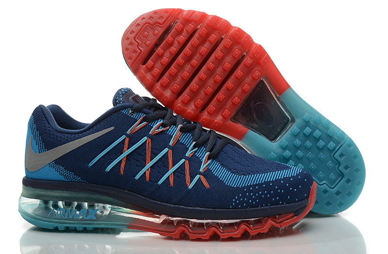 Nike Air Max 2015 Knit Blue Red Shoes