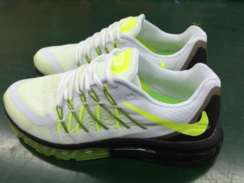 Nike Air Max 2015 White Apple Green Shoes