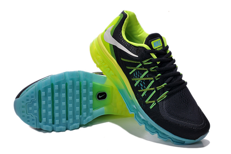 Nike Air Max 2015 Whole Palm Black Blue Green Women Shoes