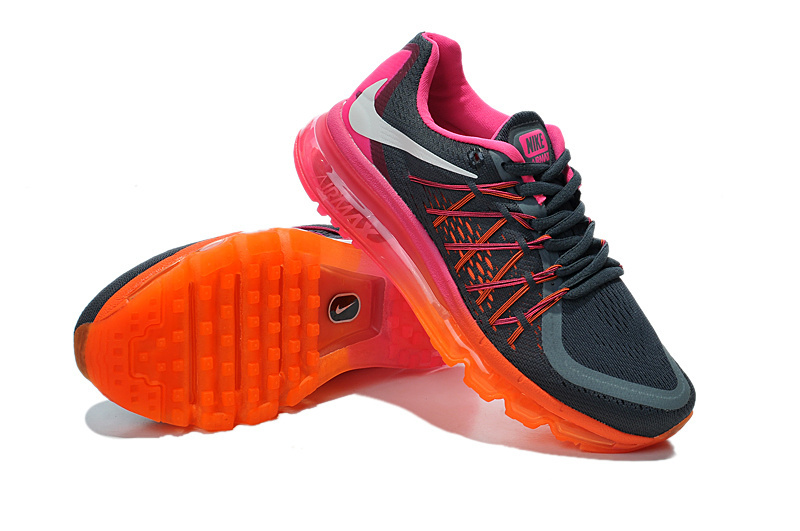 Nike Air Max 2015 Whole Palm Black Orange Oink Women Shoes