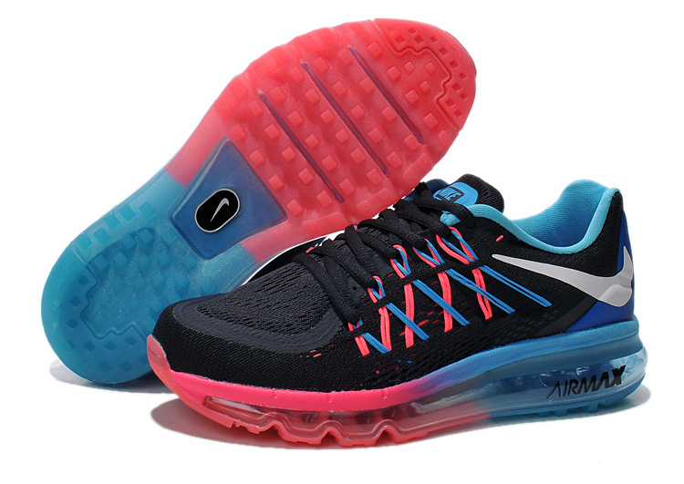 Nike Air Max 2015 Whole Palm Black Pink Blue Women Shoes