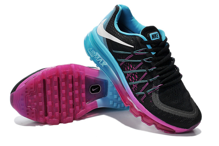 Nike Air Max 2015 Whole Palm Black Purple Blue Women Shoes