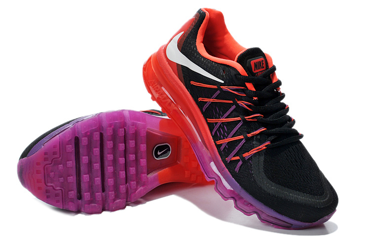 Nike Air Max 2015 Whole Palm Black Purple Red Women Shoes