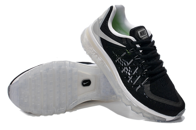 Nike Air Max 2015 Whole Palm Black White Women Shoes
