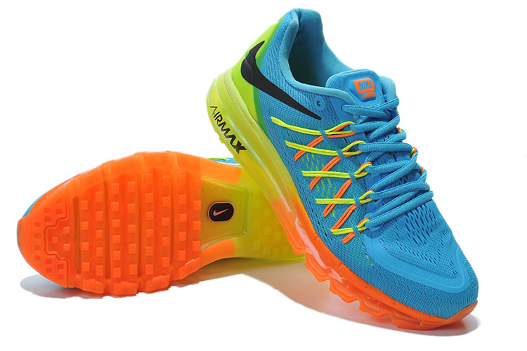 Nike Air Max 2015 Whole Palm Blue Orange Green Women Shoes