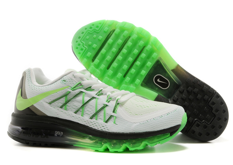 Nike Air Max 2015 Whole Palm Grey Black Green Women Shoes