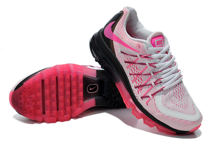 Nike Air Max 2015 Whole Palm White Pink Black Women Shoes