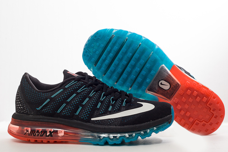 Nike Air Max 2016 Black Blue Redish Orange Shoes
