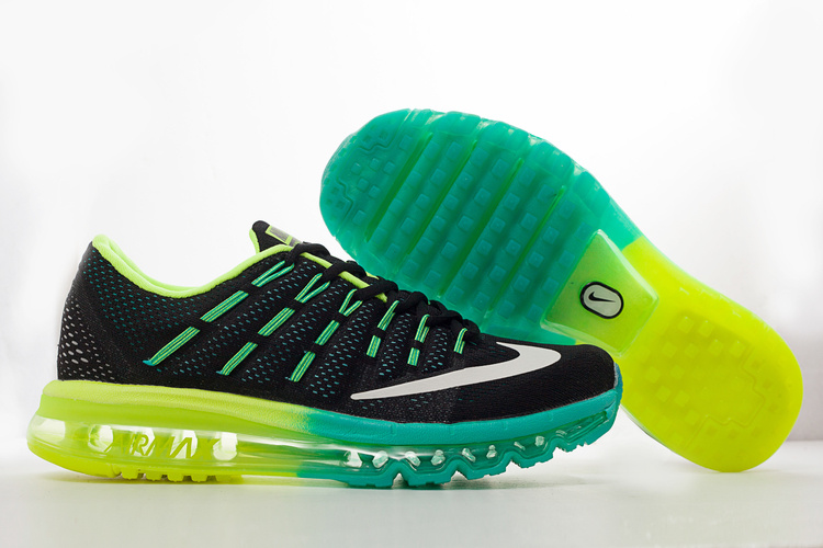 Nike Air Max 2016 Black Blue Volt Shoes