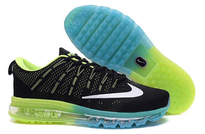 Nike Air Max 2016 Black Fluorscent Blue Shoes