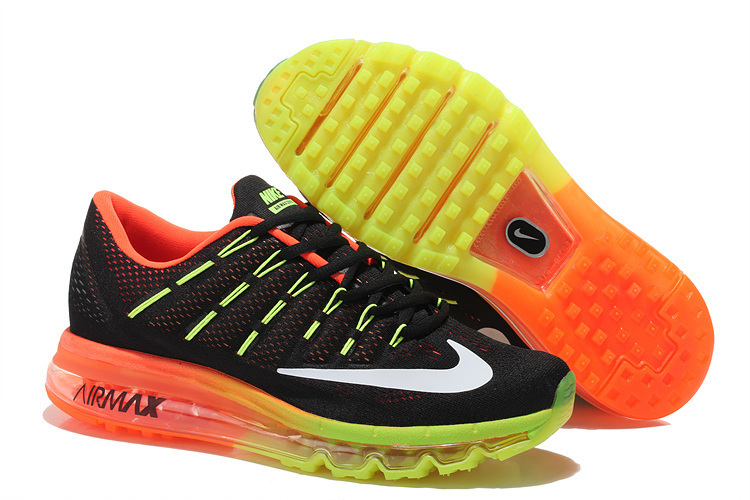 Nike Air Max 2016 Black Fluorscent Orange Shoes
