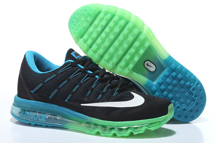 Nike Air Max 2016 Black Green Blue Shoes