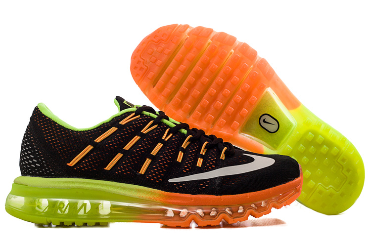 Nike Air Max 2016 Black Orange Fluorscent Shoes