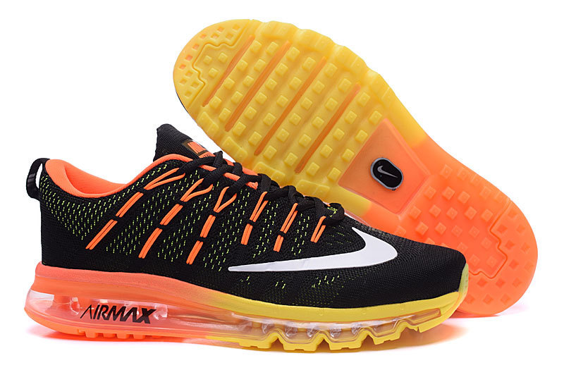 Nike Air Max 2016 Black Orange Yellow Shoes