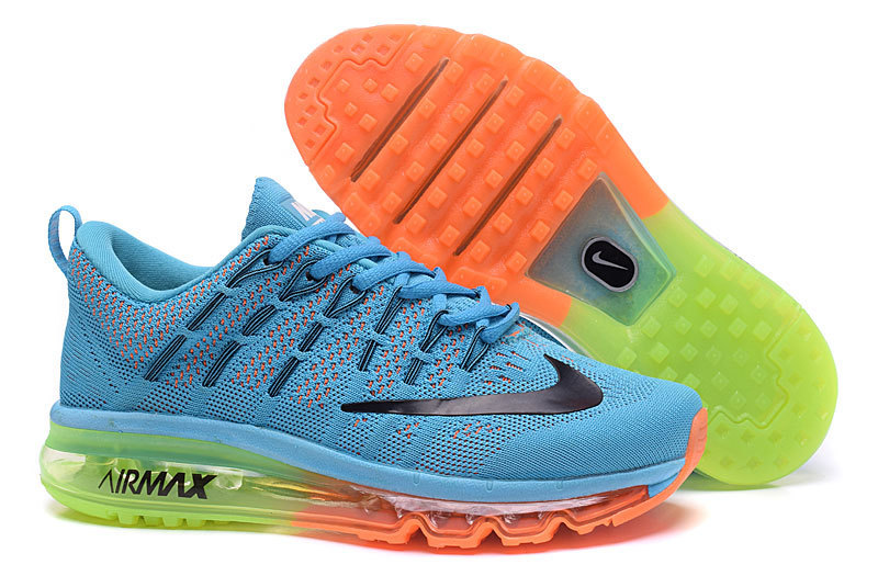 Nike Air Max 2016 Blue Orange Fluorscent Shoes