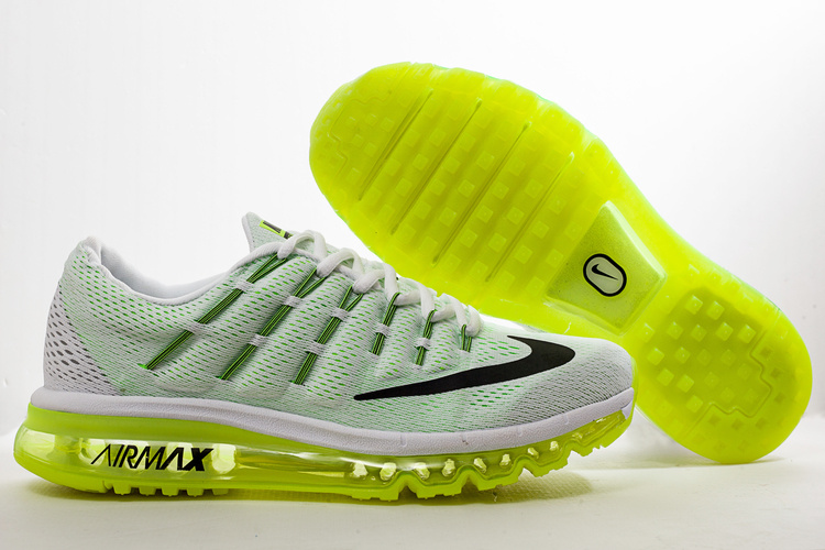 Nike Air Max 2016 White Green Shoes