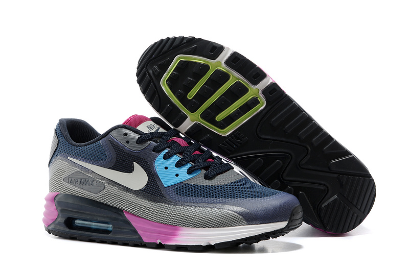 Nike Air Max 25th Anniversary Black Blue Grey Purple Shoes