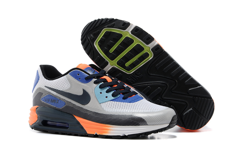 Nike Air Max 25th Anniversary Grey Black Orange Shoes