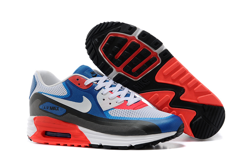 Nike Air Max 25th Anniversary White Blue Black Red Shoes