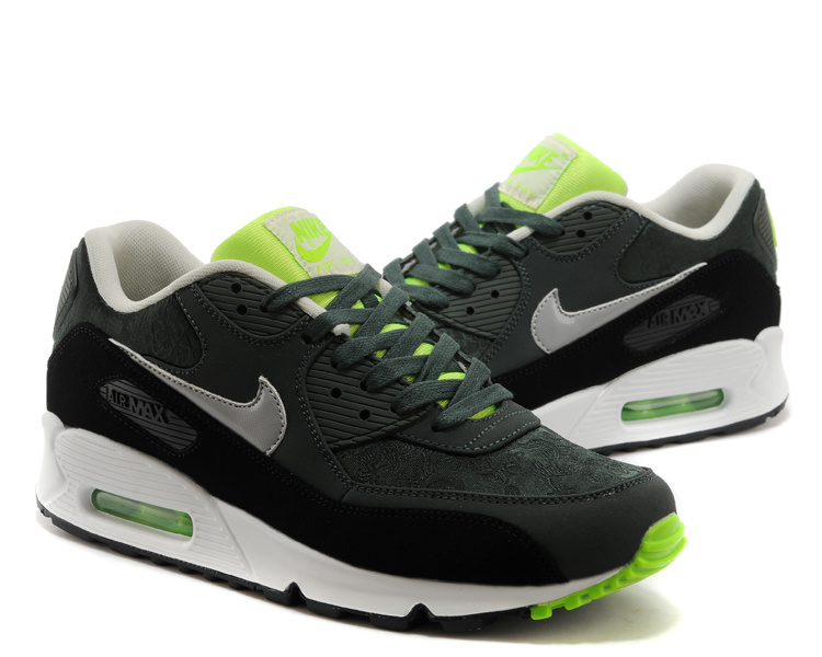 Nike Air Max 90 Black White Green Women Shoes