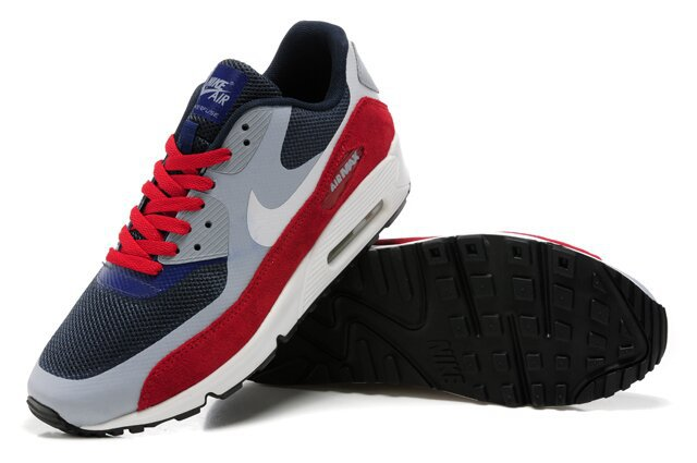 Nike Air Max 90 HYP PRM Grey Black Red White Shoes