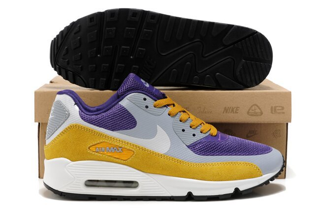 Nike Air Max 90 HYP PRM Grey Purple Yellow White Shoes
