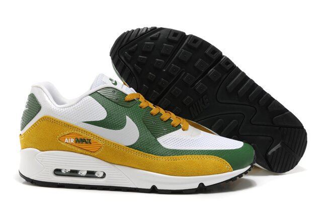 Nike Air Max 90 HYP PRM White Green Yellow Shoes