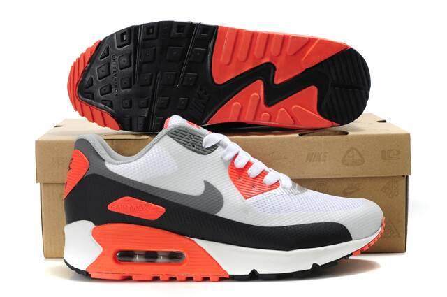 Nike Air Max 90 HYP PRM White Grey Black Orange Shoes