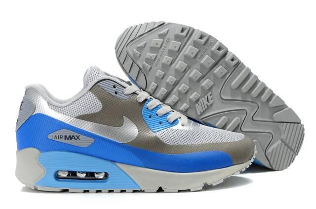 Nike Air Max 90 HYP PRM White Grey Blue Shoes