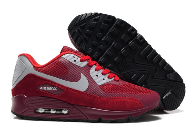 Nike Air Max 90 HYP PRM Wine Red Grey Shoes