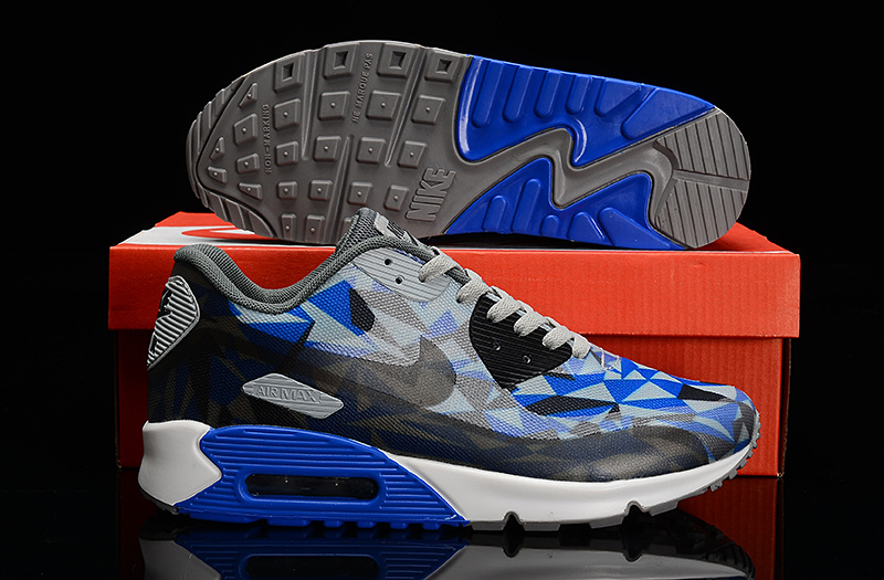 Nike Air Max 90 Hyperfuse Grey Black Blue Shoes